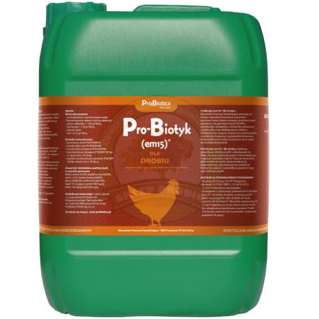 Pro-Biotyk (Em-15) dla drobiu 10L